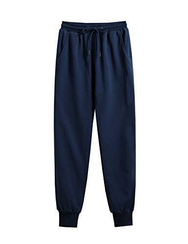 LANBAOSI Pantalons Jogging Femme Décontractés Taille Elastique Cordon de Serrage Respirant Sweatpants
