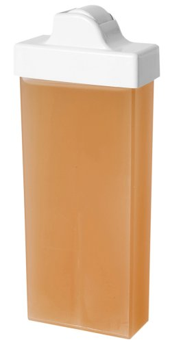 Wachspatrone NATURAL wasserlöslich Zuckerpaste für die Enthaarung mit Vliesstreifen kleiner Roller 100 ml