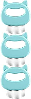 Nrpfell Comb 3 Pieces Pet Hair Removal Comb Massage Comb Pet Hair Shedding Brush Pet Fur Grooming Brush (Green)