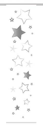 Home Fashion Stars Schiebevorhang, Stoff, grau, 245 x 60 x 0,1 cm