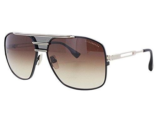 Dita Armada Herren DRX-2045-B Gold & Schwarz Aviator Sonnenbrille mit braunem Objektiv