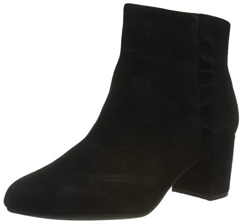 Rockport Damen Total Motion Oaklee Ruffle Boot Kurzschaft Stiefel, Schwarz (Black Suede 002), 39 EU