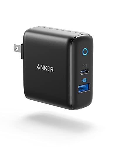 【改善版】Anker PowerPort PD 2 20W(PD対応 32W 2ポート USB-A & USB-C 急速充電器)【PSE認証済 / Power Delivery対応 / PowerIQ搭載 / コンパクトサイズ】 iPhone 12 / 12 Pro iPad Air(第4世代) Android その他 各種機器対応 (ブラック)