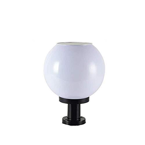 Pcqre Modern Solar Personality Pathway Lamp IP55 Creative Ball Lawn Lantern Outdoor Waterproof Pillar Lamp Villa Round Column Light Garden Lighting Landscape Light (Size : Height-33cm)