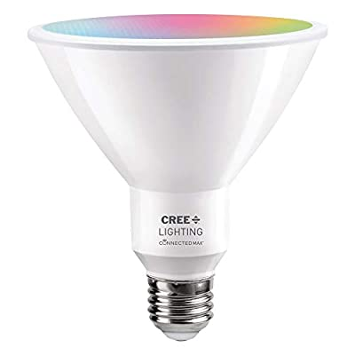 Cree Lighting Connected Max Bluetooth + WiFi Smart LED Bulb Tunable White + Color Changing PAR38 120W Outdoor Flood 1pk (CMPAR38-120W-AL-9ACK)
