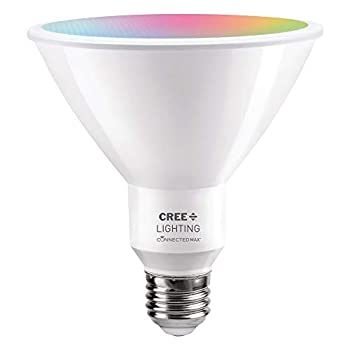 Cree Lighting Connected Max Smart LED Bulb PAR38 Outdoor Flood Tunable White + Color Changing Works with Alexa and Google Home No Hub Required Bluetooth + WiFi 1pk