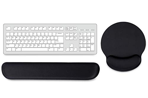 Aelfox Memory Foam Keyboard Wrist Rest&Gaming Mouse Pad with Wrist Support, Ergonomic Wrist Pad for Office, Home Office, Laptop, Desktop Computer, Gaming Keyboard