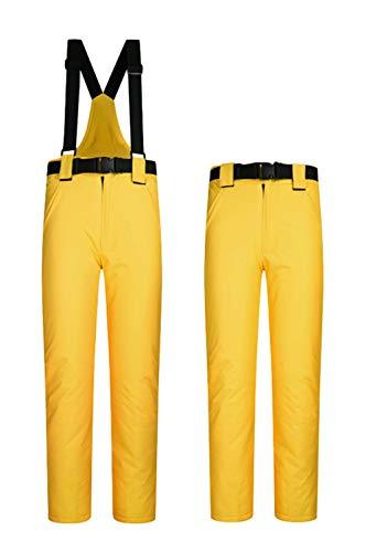ELETOP Damen Skihose Wasserdicht Winddicht Schneehose Outdoor Warm Isolierte Snowboardhose Gelb S