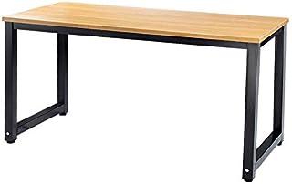 Mesa de escritorio Millhouse para ordenador, oficina, estudio, computadora, portátil, mesa de trabajo, mesa de comedor para juegos para el hogar y la oficina Beech-black