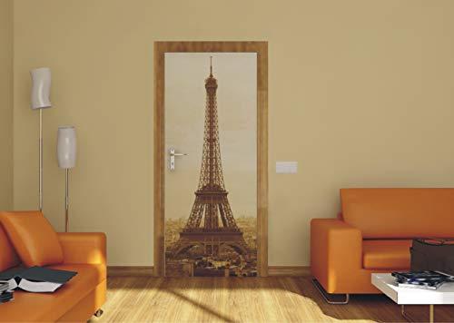 AG Design FTV 0016 Eiffeltoren Parijs, papier fotobehang - 90x202 cm - 1 stuk, papier, multicolor, 0,1 x 90 x 202 cm