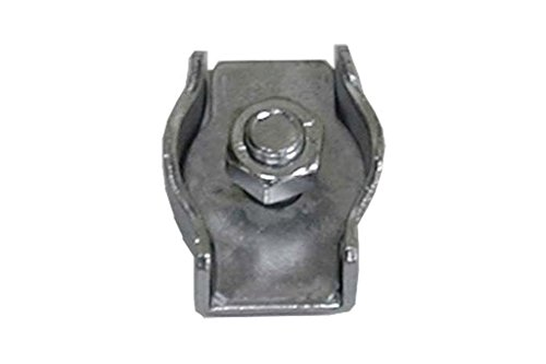 Cofan 18005101 - Pack 5 Sujetacables Plano Simple (Acero Inoxidable, M-2)