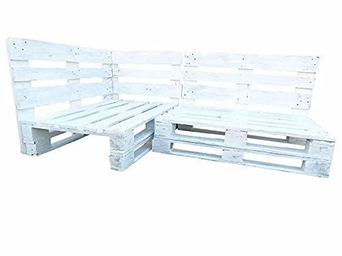Rinconera de palets para Interior & Exterior - Mueble de Palets para Terraza & Patio & Jardín hecho con Palets de Madera Reciclados