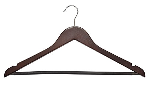 Muscle Rack Wood Suit Hangers - 30 Pack, Cherry
