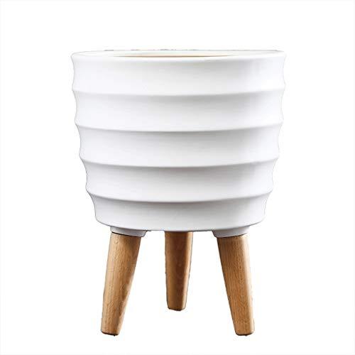 Persoonlijkheid Bloem Pot Wit Keramisch Balkon Vloer Plant Pot Bloem Creatieve Persoonlijkheid Vaas Decoratie in Woonkamer Glad
