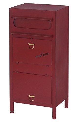 ヤマソロ ポスト 郵便受け 置き型ポスト スタンドポスト 宅配ボックス 大型ポスト カレブ (レッド)