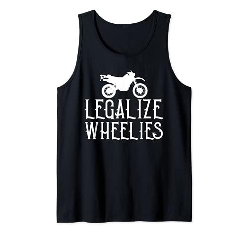 Diseño gráfico vintage más divertido de Legalize Wheelies Camiseta sin Mangas