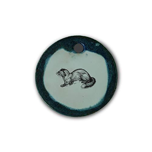 """Muy bonito colgante de cerámica """"marta"""" jaspeado en azul;"""