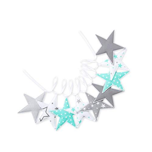 Guirnalda de estrellas en muchos diseños, decoración para habitación infantil, 200 cm Sternchen 02.