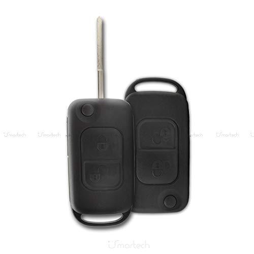 1neiSmartech Schale Schlã¼Ssel Fernbedienung 2Tasten Fã¼R Auto Mercedes Klasse A C E S Cl Shell Key