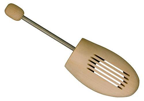 Delfa Holz Schuhspanner Gr. 41-43 Schuhformer Schuhstrecker mit Metall-Spiralfeder, Pflege für alle Schuhe