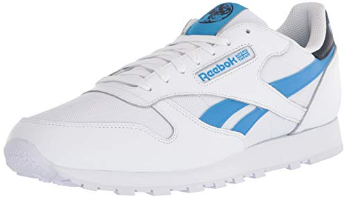 Reebok unisex-adult CLASSIC LEATHER,vector Navy/Horizon Blue/White,11.5 M US