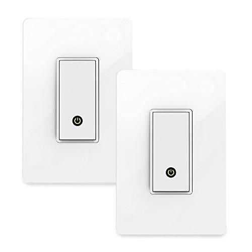 Wemo Paquete de 2 interruptores de luz, WiFi habilitado, funciona con Amazon Alexa y el Asistente de Google