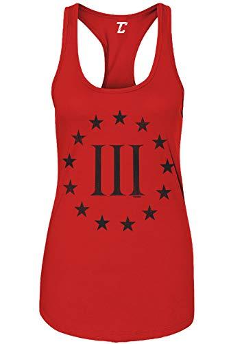 Three Percenter Logo - Threeper Protest Women's Tank Top (Red, Medium)