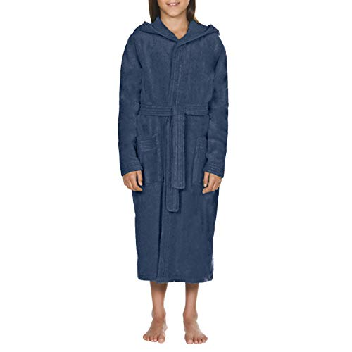 ARENA Unisex Kinder Bademantel Core Soft Robe Junior, Navy White, 140