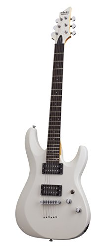 Schecter 432 C-6 Deluxe Solid-Body Electric Guitar, Satin White