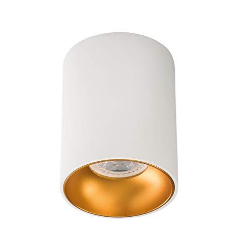 Lampada da soffitto moderna rotonda bianco GU10 max 25 w
