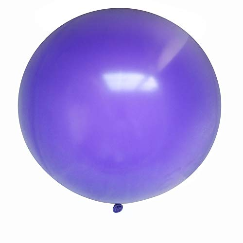 CY Mylar 36 Inch Giant Latex Balloons Round Balloons Large Balloons for Baby Shower/Photo Shoot/Birthday/Wedding Party/Festival/Event/Carnival/Christmas Decorations-6pcs (Purple)