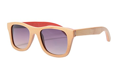 SHINU Z68004 - Gafas de sol polarizadas de madera, hechas a mano, protección UV400, para deportes al aire libre