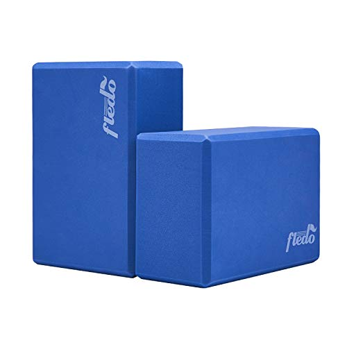 Fledo Yoga Blocks 2 Pack, Foam Yoga Brick, Featherweight and Comfy - Provides Stability...