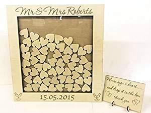 Placa personalizable en inglés para boda libro de invitados para CAJA 144...