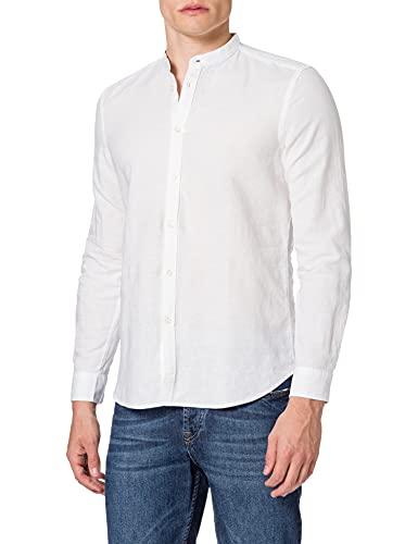 Sisley Shirt 5EV55QFQ9 Camicia, Bianco 940, L Uomo