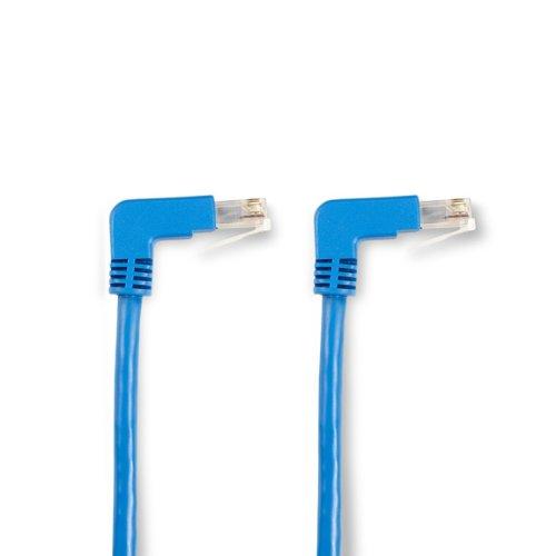 Black Box EVNSL21E-0006-90DD SpaceGAIN CAT5e Ethernet-Patchkabel (100 MHz, ungeschirmt, UTP, PVC, geformte Knickschutztüllen, 90° nach unten - 90° nach unten, 1,8 m) Blau