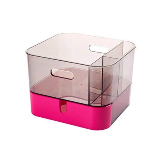 UANDM transparante bureaublad opbergdoos multifunctionele potloodhouder cosmetische opbergdoos compartiment met lade bureaublad opbergdoos