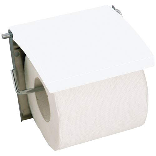 MSV 140397 Porte rouleau papier wc bois et inox, MDF