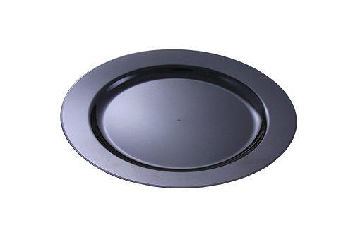 MOZAIK 20 platos de plástico de 15cm en color negro