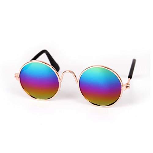 MICHAELA BLACK Pet Gafas de Sol clásicas Gafas de Sol Retro Circulares metálicas para Gato, Chihuahua o Perros pequeños (Multicolor) 1 PC Suministros para Mascotas