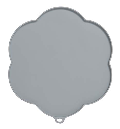 Catit 44011 Flower Shape Silicone Placemat, Gray, Medium