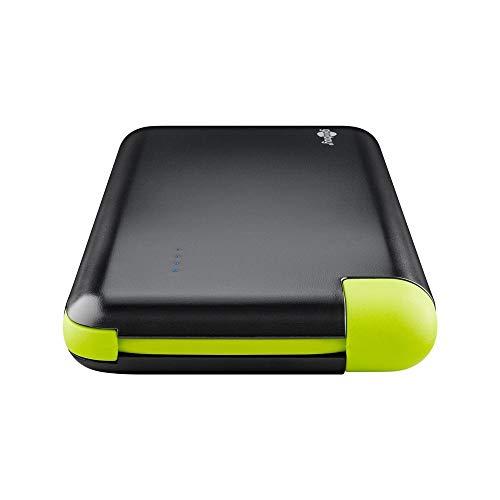 Goobay 64559 Slim Powerbank 8.0 mit 8000 mAh und integriertem Micro USB Kabel externer Akku Ladegerät für Samsung/HTC/Apple iPhone