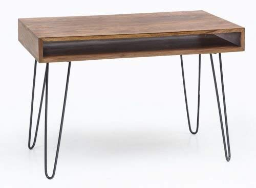 Wohnling Schreibtisch Bagli, 110 x 60 x 76 cm, Holz, braun