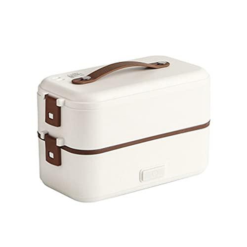 GXGX Bento Bento Box Almuerzo Almuerzo Caja de Almuerzo Oficina Oficina Lugar de Almuerzo Caja de Arroz Calentador Almuerzo Calefacción Calefacción Pulsera Almuerzo Eléct White