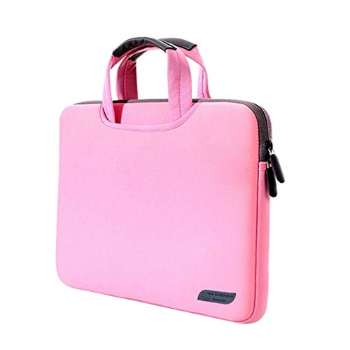 WXX 15.4 inch Portable Air Permeable Handheld Sleeve Bag for MacBook Air/Pro, Lenovo and other Laptops, Size: 38x27.5x3.5cm (Black) (Color : Pink)
