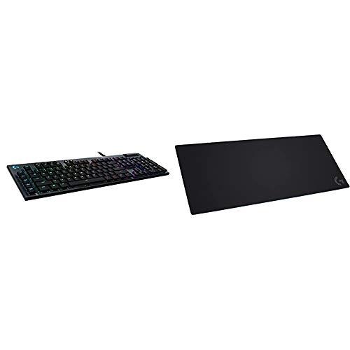 Logitech G815 RGB Mechanical Gaming Keyboard (Tactile) & G840 XL Cloth Gaming Mouse Pad