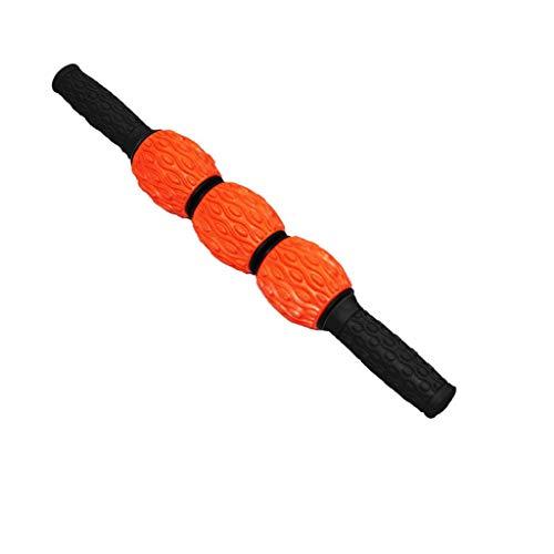 Muskel Massageroller, Fußmassageroller bestes Tool für schmerzende, angespannte Muskeln, Krämpfe & Knoten. Super Massage für Waden, Beine, Rücken & Erholung von Muskelkater. (Orange)