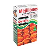 Mejillones en Escabeche de las Rias Gallegas 20/25 piezas Peso Neto 118 gr.(Pack de 6 Latas)