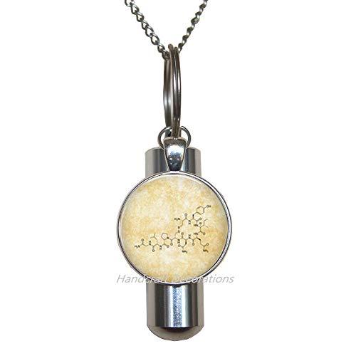 Oxytocin Urnen-Halskette mit Urnen-Anhänger, Chemie-Science-Schmuck, Serotonin-Urnen-Halskette, F234