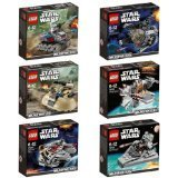 LEGO Star Wars MicroFighters 6 pcs Set 2014 New Released (75028, 75029, 75030, 75031, 75032, 75033) by